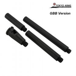 Tokyo Arms multi outer barrel pour M4 GBB - Noir
