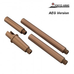 Tokyo Arms Multi-Length CNC Outer Barrel for M4 AEG - Sand