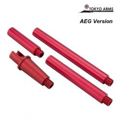 Tokyo Arms multi outer barrel pour M4 AEG - Rouge - Powair6.com