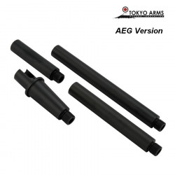 Tokyo Arms Multi-Length CNC Outer Barrel for M4 AEG - Black