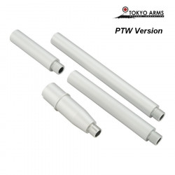 Tokyo Arms Multi-Length CNC Outer Barrel for PTW M4 - Silver -
