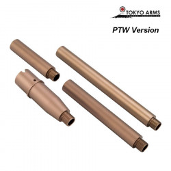 Tokyo Arms Multi-Length CNC Outer Barrel for PTW M4 - Sand -
