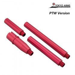 Tokyo Arms Multi-Length CNC Outer Barrel for PTW M4 - Red -