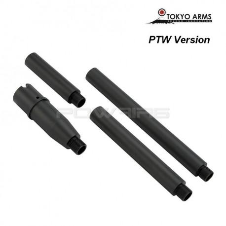 Tokyo Arms multi outer barrel pour M4 PTW - Noir -