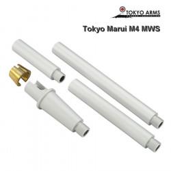 Tokyo Arms multi outer barrel pour Tokyo Marui M4 MWS - Argent
