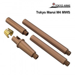 Tokyo Arms Multi-Length CNC Outer Barrel for Tokyo Marui M4 MWS - Sand