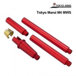 Tokyo Arms multi outer barrel pour Tokyo Marui M4 MWS - Rouge