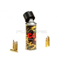 Armamat bombe peinture militaire extra mat RAL 9021 Noir Otan