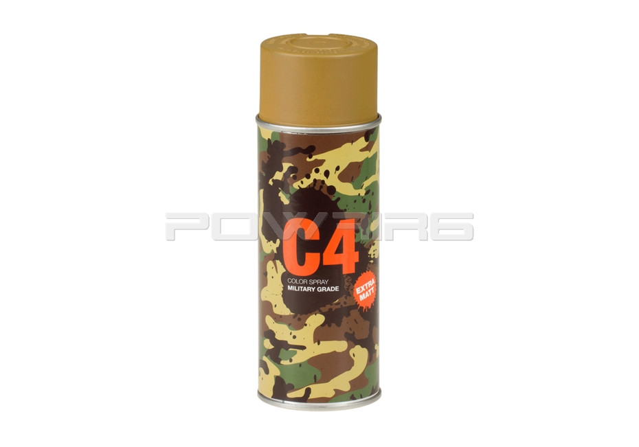 Armamat C4 Mil Grade Extra Mat Color Spray Flat Ral8000 Powair6