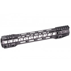 G&P Rail CNC 12.5 inch M-Lok pour M4 AEG / GBB Gris