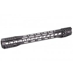 G&P Rail CNC 16.2 inch M-Lok pour M4 AEG / GBB Gris