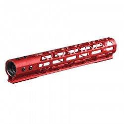 Skeleton M-LOK CNC rail for AEG / GBB / PTW 12 inch red -