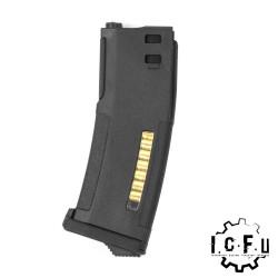 PTS chargeur EPM pour Marui Recoil Shock M4 SCAR 416 - Noir