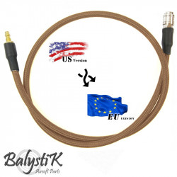 Balystik Ligne adaptateur US - EU HPA 8 mm tressée nylon DE - Powair6.com