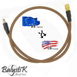 Balystik adapter EU - US 8mm DE braided line for HPA regulator -