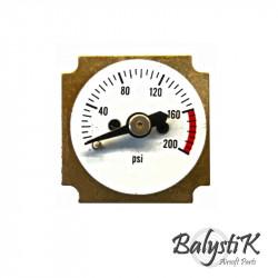 Balystik Manomètre 0-200 PSI pour régulateur HPR800C - Powair6.com