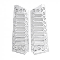 "Airsoft Surgeon plaquettes 1911 CNC Aluminium ""Cobra"" Silver"
