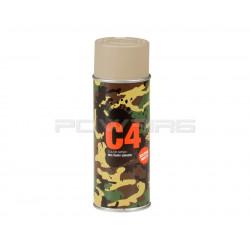 Armamat bombe peinture militaire C4 extra mat RAL 1019 Beige gris -