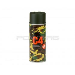 Armamat bombe peinture militaire C4 extra mat RAL 6007 vert bouteille -