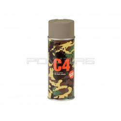 Armamat bombe peinture militaire C4 extra mat RAL 7006 gris beige - Powair6.com