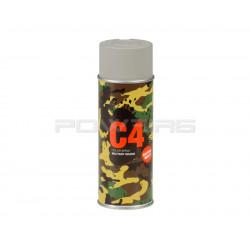 Armamat bombe peinture militaire C4 extra mat RAL 7030 gris pierre -