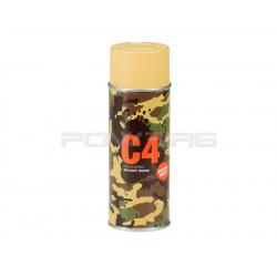 Armamat bombe peinture militaire C4 extra mat RAL 1002 jaune sable -