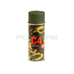 Armamat bombe peinture militaire C4 extra mat RAL 6031 vert bronze -