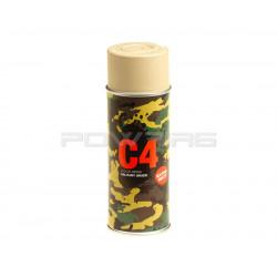 Armamat bombe peinture militaire C4 extra mat RAL 1039 beige sable -