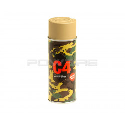 Armamat bombe peinture militaire C4 extra mat RAL 1040 beige -