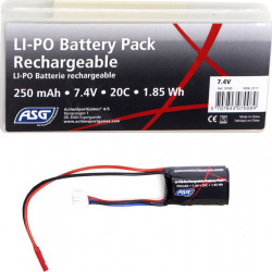 ASG 7.4V 250mah 20C lipo battery for HPA - Powair6.com