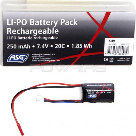 ASG 7.4V 250mah 20C lipo battery for HPA -