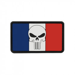 SKULL french flag Velcro patch
