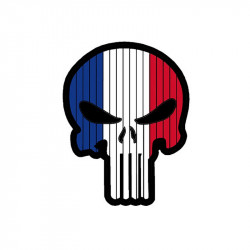 Patch velcro SKULL France