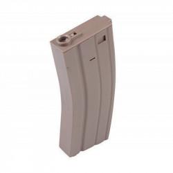 E&C mid-cap metal magazine 160 rounds for M4 AEG (tan) -