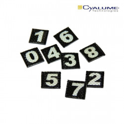 Photoluminescent number Velcro patch (selectable)