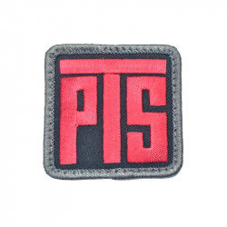 PTS Red / black velcro Patch