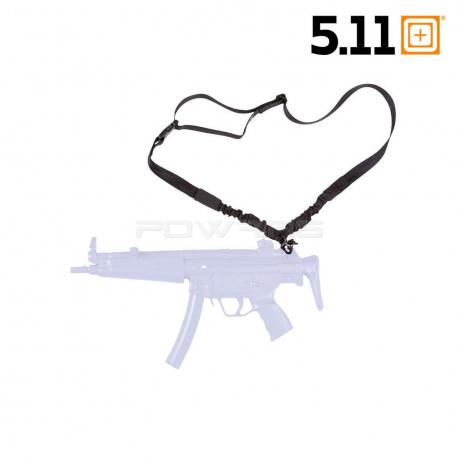 5.11 TACTICAL Nylon Webbing Bungee Single Point Sling,Black,Nylon 54000 Black