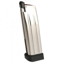 Armorer Works AW custom Green Gas Magazine for HI-CAPA - silver