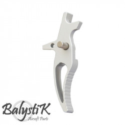 Balystik CNC CURVED Trigger for M4 AEG (silver) -