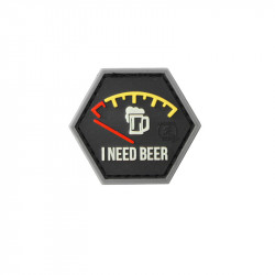 I NEED BEER Red Velcro patch