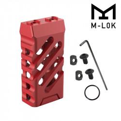 Grip avant court style VTAC M-LOK (Croisé et Rouge)
