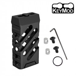 Ultralight VTAC style short Grip KEYMOD (cross & black) -