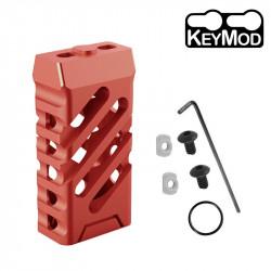 Grip avant court style VTAC KEYMOD (Croisé et Rouge)