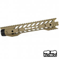 Kublai 12 inch Night rail Keymod for M4 AEG - Dark Earth -