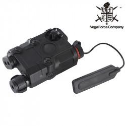 VFC AN/PEQ15 COMBO avec laser et torche - Noir