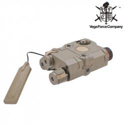 VFC AN/PEQ15 COMBO avec laser et torche - Dark Earth -