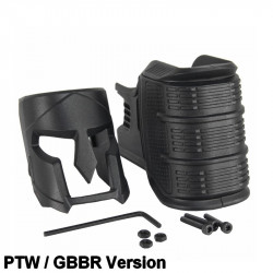 KUGLAI Magwell ergonomique style mojo pour M4 GBBR & PTW - Noir