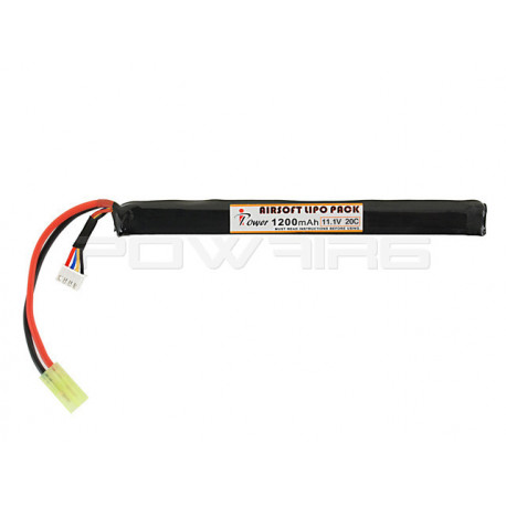 IPOWER batterie LIPO 11,1V 1200Mah 20C stick pour AK - Powair6.com