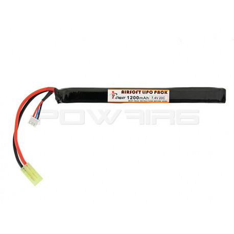 IPOWER batterie LIPO 7.4V 1200Mah 20C stick pour AK - Powair6.com