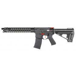 VFC Avalon Leopard Carbine fixed stock black with gun case -